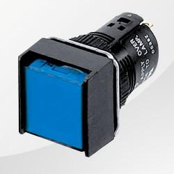 M16 LED Meldeleuchte blau eckig