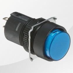 M16 LED Meldeleuchte blau rund