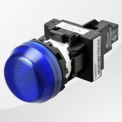 M22 LED Meldeleuchte rund blau