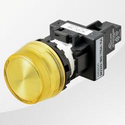 M22 LED Meldeleuchte rund gelb