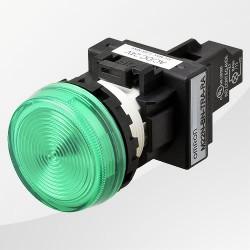 M22 LED Meldeleuchte rund hellgrün
