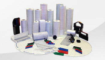 Verbrauchsmaterial für Linienschreiber und Punktdrucker