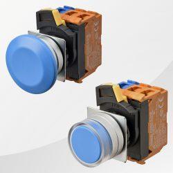 A22N Drucktaster / Schalter blau